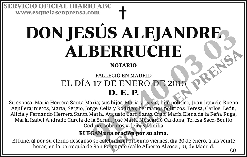 Jesús Alejandre Alberruche